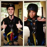 Geared up for zip lining!