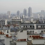 view from studio apartment in rue Lamarck, next to main Ermitage building