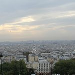 "view over Paris from the ""parvis du Sacré Coeur"", a stone's throw from the hotel"
