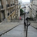 "one of the many ""escaliers de la Butte"" - hard on the legs but  oh so easy on the eyes!"