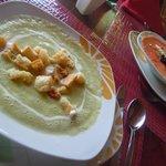 Avocado soup (yum!!)