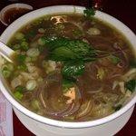 Pho. Served with hoisen and shriracha
