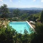 Het zwembad met prachtig uitzicht