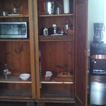 Conveniences in living/dining room