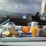 Завтрак, вид с терассы
