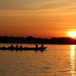 Sonnenuntergang bei der Lagune
