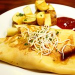 Savory Teriyaki Chicken Crepe