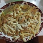 Penne pollovino. Amazing taste! Not to miss :)