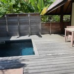 plunge pool in the room