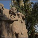 O jardim do Museu do cairo é pequeno, mas interessante. Fotografe bastante, não pode levar a câm