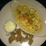 Fried Oysters & Lobster Mac n Cheese