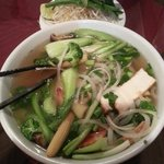 Pho with shrimp and steamed veggies XL version
