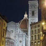 view of Duomo at night
