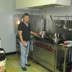 Le chef dans sa cuisine