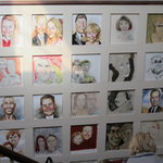 Wall of caricatures.