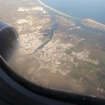 Tavira out of the plane window.
