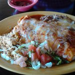 Little Anita's Carne Adovada Burrito with Rice and Beans