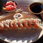 Plato Verde Sushi Philadelphia Roll (Rollo de Filadelfia)