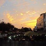 Coucher de soleil - vue du balcon