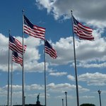 Flags at Liberty State Park