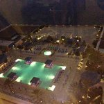 nocturnal view of pool