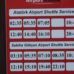 Airport shuttle schedule