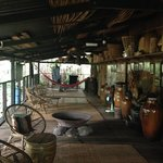 The rest area of the longhouse