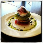 caprese with tarrogon and house pulled mottz