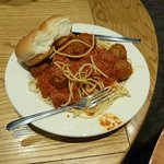 Meatballs at the Cafeteria about $10