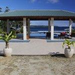 Sheltered pool deck