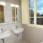 Double vanity in ensuite and beautiful view from the window!