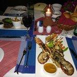 honeymoon dinner at crabs restraurant