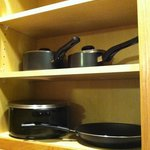 pots and pans, extended stay