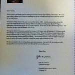 A letter from the owner