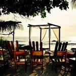 wedding ceremony on the beach set up