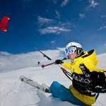 Snowkiting at the Hardangervidda platou