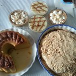 A tasty array of housemade Portuguese desserts!