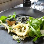 Squid with ink risotto