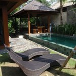 Private pool and outdoor kitchen