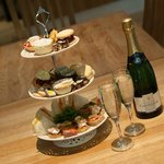 Delicious afternoon tea - champagne is an optional extra! Photo Loudon MacRae Photography