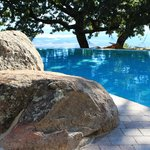 The pool built around the rocks