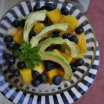 Fresh fruit salad every day