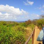 320 metros de trilha que dá acesso ao Sancho
