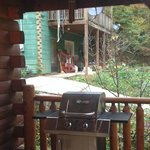 View from our front porch of Magic Moments cabin...not the privacy that was portrayed on the web