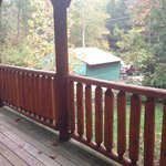 Actual view from the front porch of Magic Moments cabin