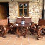 mobiliario del jardín