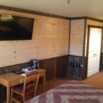 Flat Screen TV in Lodge Style Room