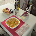 my table with vegetable soup