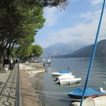 from my table looking out at Lake Como