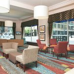 Spacious Lobby with Street Views of Downtown Indianapolis